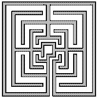 Square labyrinth