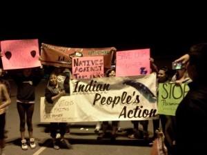 Indian People's Action blockade