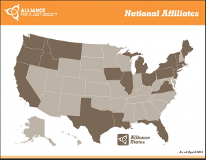 Map of AJS Afiliates 2015 jpeg